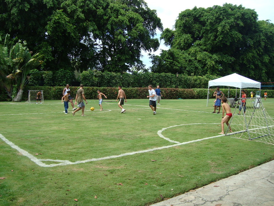 Guests Play Soccer