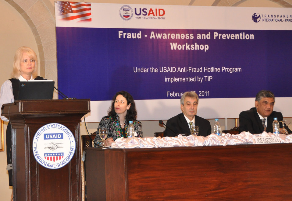 USAID Pakistan–sponsored Fraud Awareness Workshop