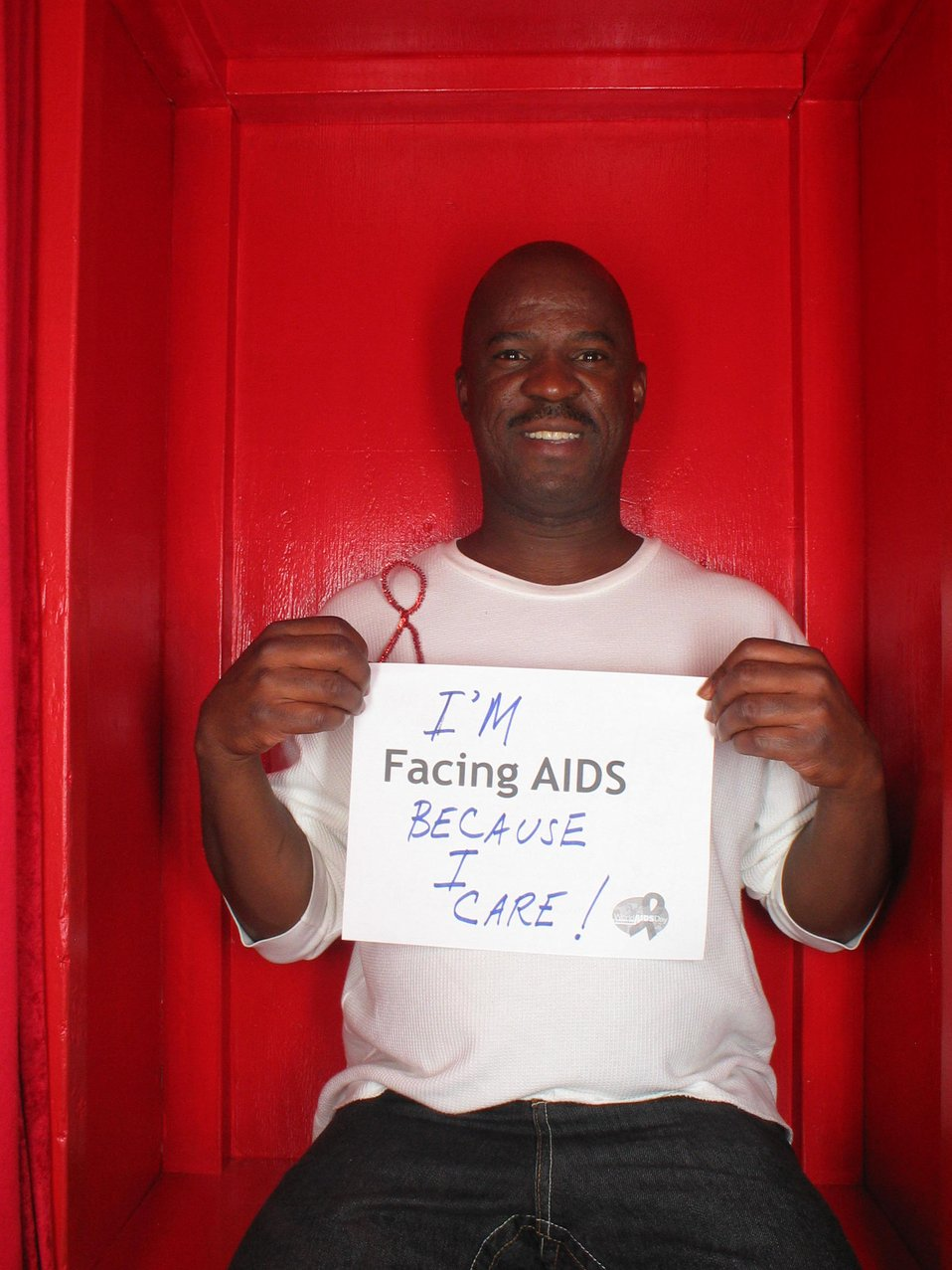 I'm Facing AIDS because I care!