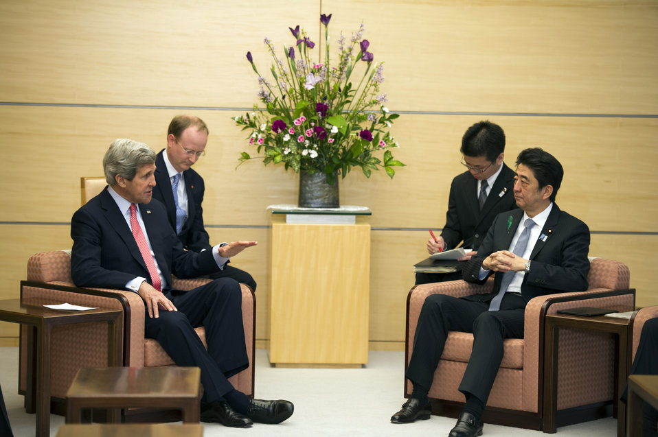 Secretary Kerry Meets Japanese Prime Minister Abe