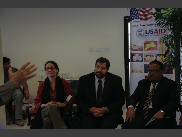 Ms.Melissa Knight (Director Energy Office USAID Pakistan) Mr. Jeffrey Bakken (Provincial Director USAID Punjab) Mr. Ehsan Elahi (GM LESCO)