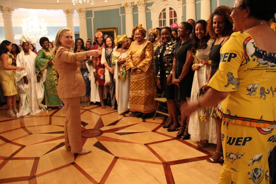 Secretary Clinton Greets African Women's Entrepreneurship Program Participants