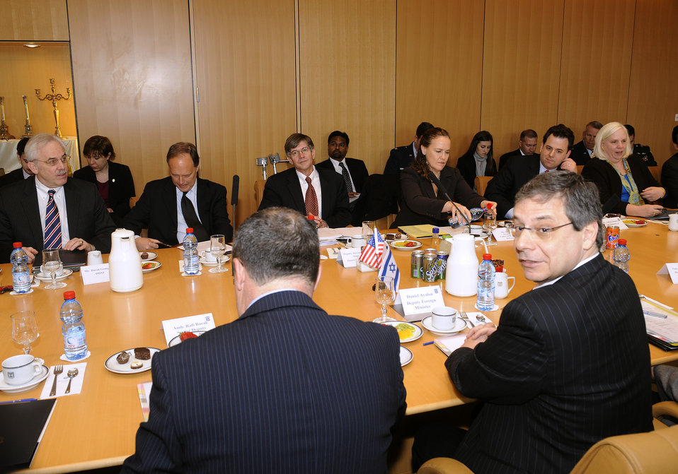 Deputy Secretary of State James B. Steinberg With Deputy Foreign Minister Danny Ayalon