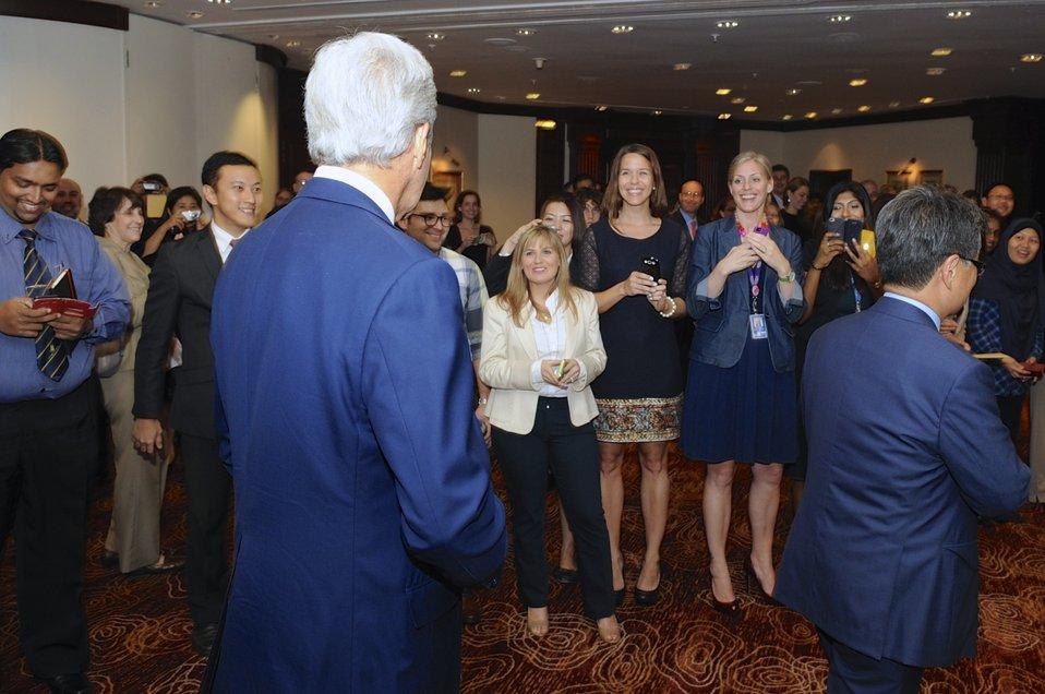 Embassy Kuala Lumpur Staffers Greet Secretary Kerry