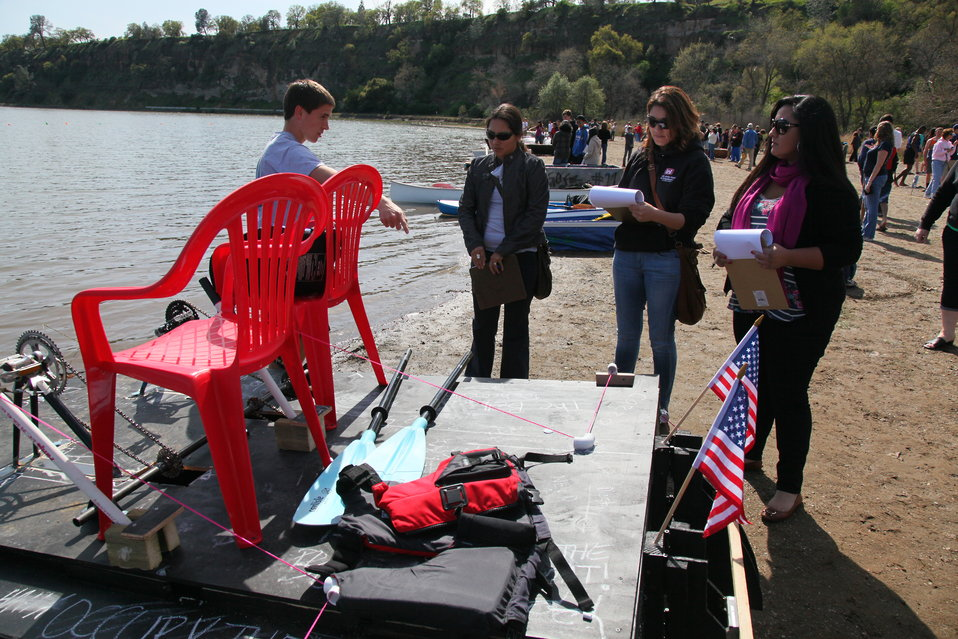 Judging boat regatta entrants for design and construction