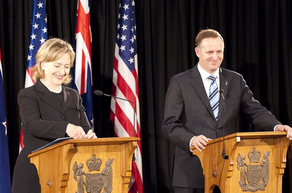 Secretary Clinton Holds a Joint Press Availability With New Zealand Prime Minister Key