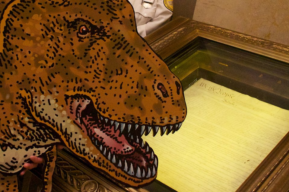Smithsonian Institution's TRex visits the National Archives