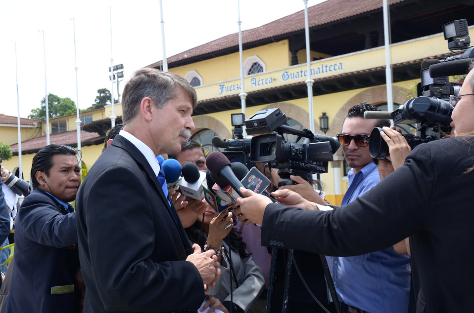 Ambassador McFarland Speaks With the Press