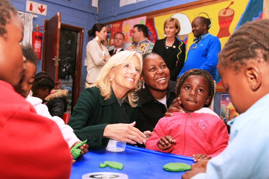 Dr. Jill Biden Interacts With Children