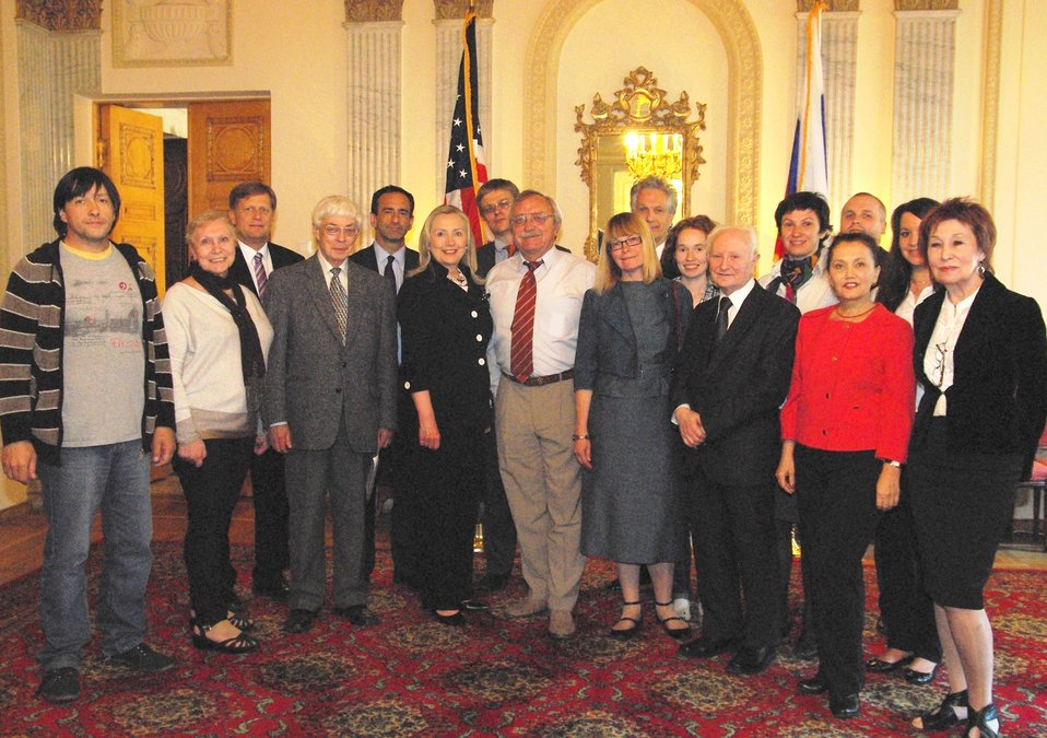 Secretary Clinton With Civil Society Leaders