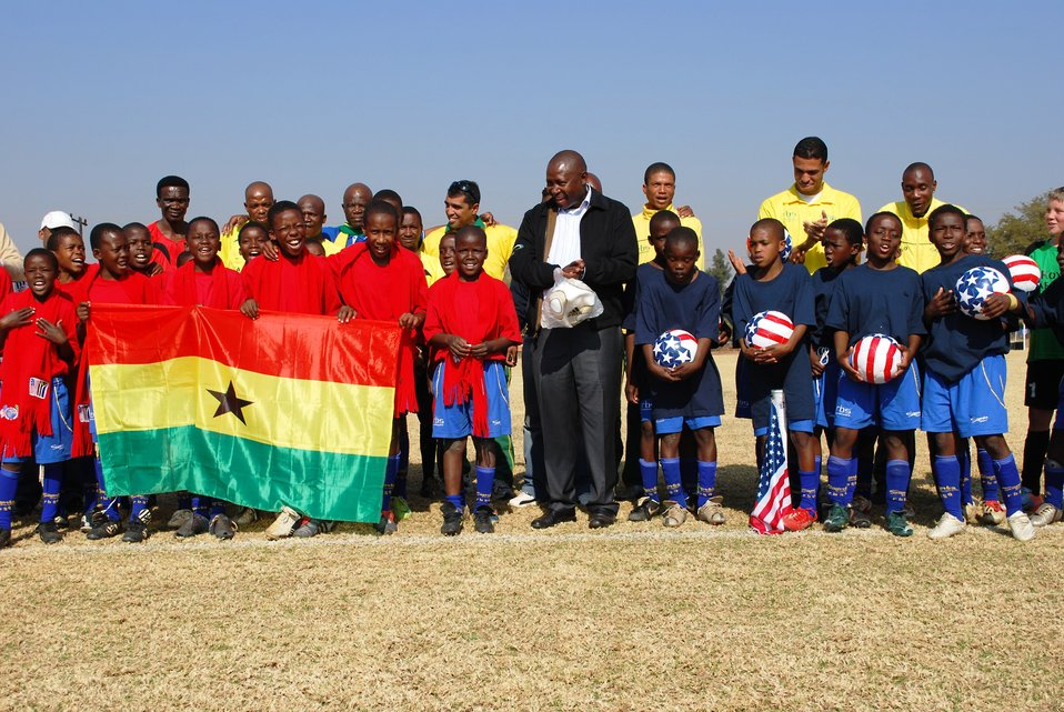 U-11 Bafokeng Football Academy Teams Preview 2010 World Cup Match Between U.S. and Ghana