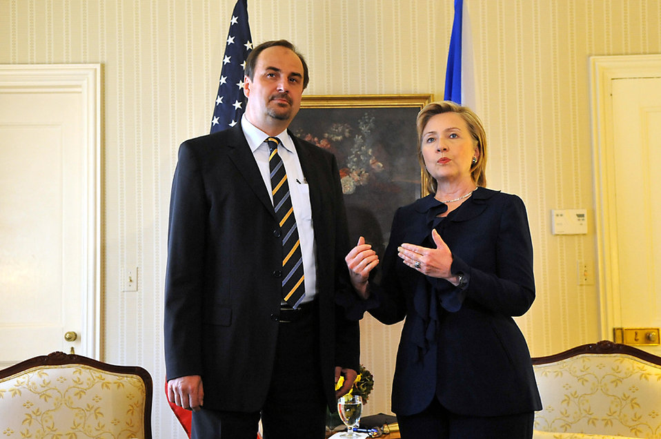 UNGA 2009: Secretary Clinton Meets With Czech Republic Foreign Minister