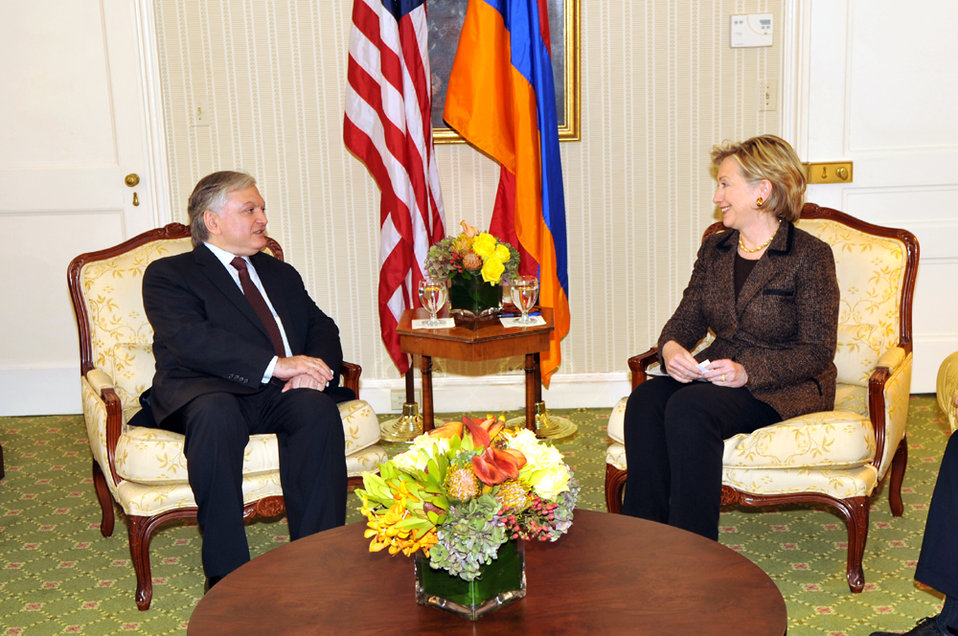 UNGA 2009: Secretary Clinton Meets With Armenian Foreign Minister