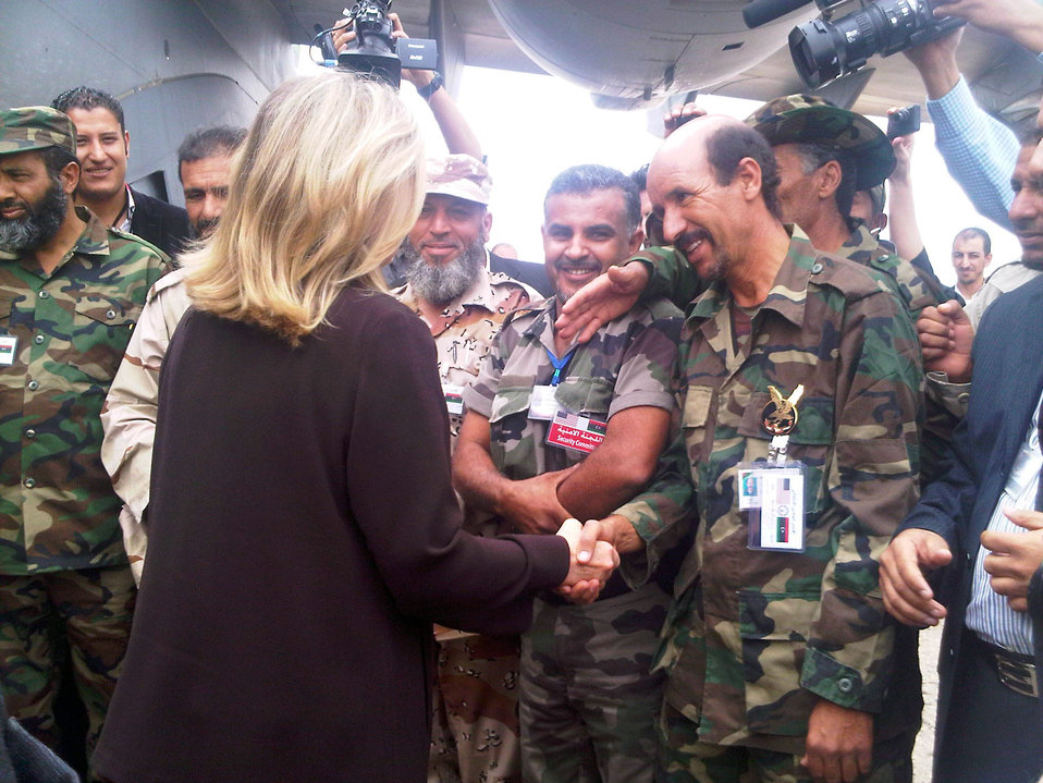 Secretary Clinton Is Greeted By Libyans