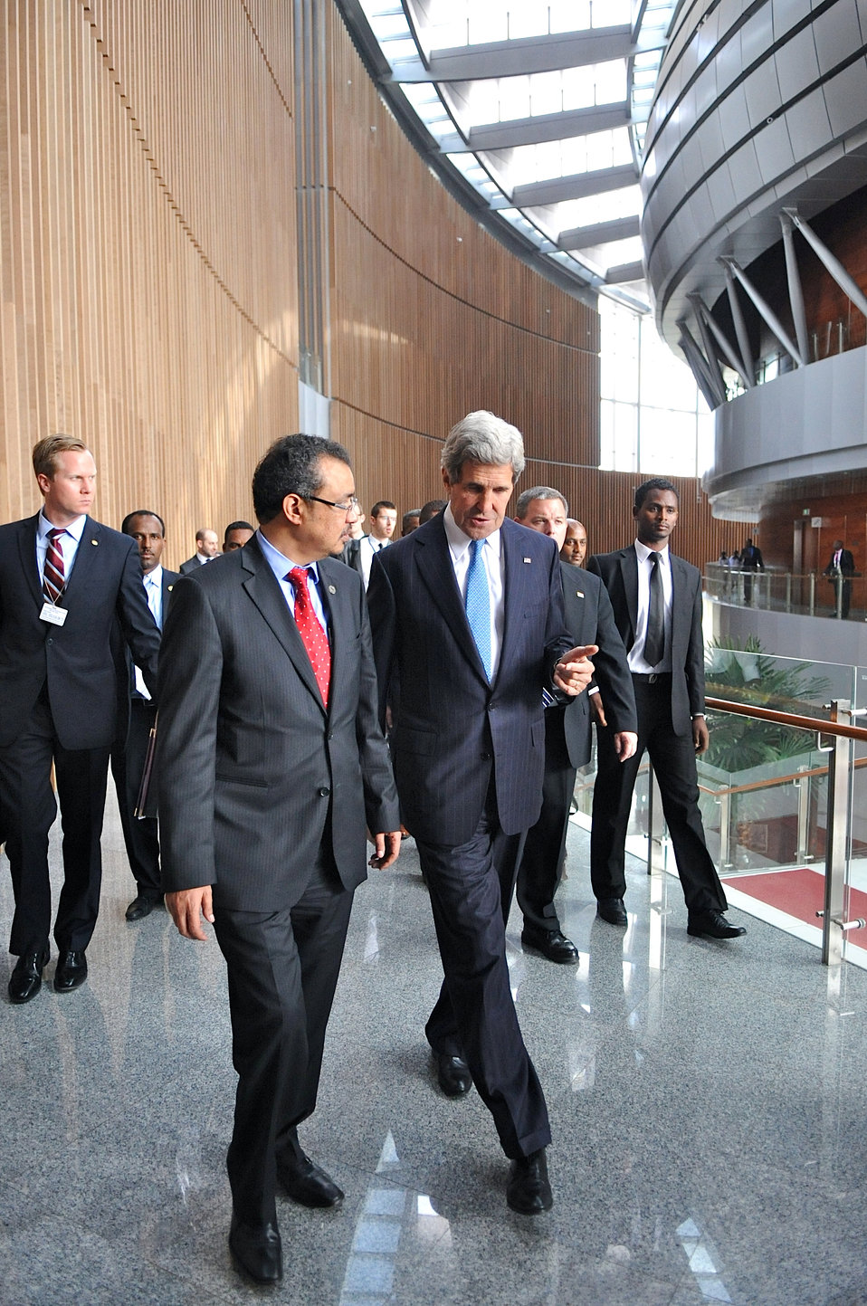 Secretary Kerry With Ethiopian Foreign Minister Adhanom at the African Union Summit