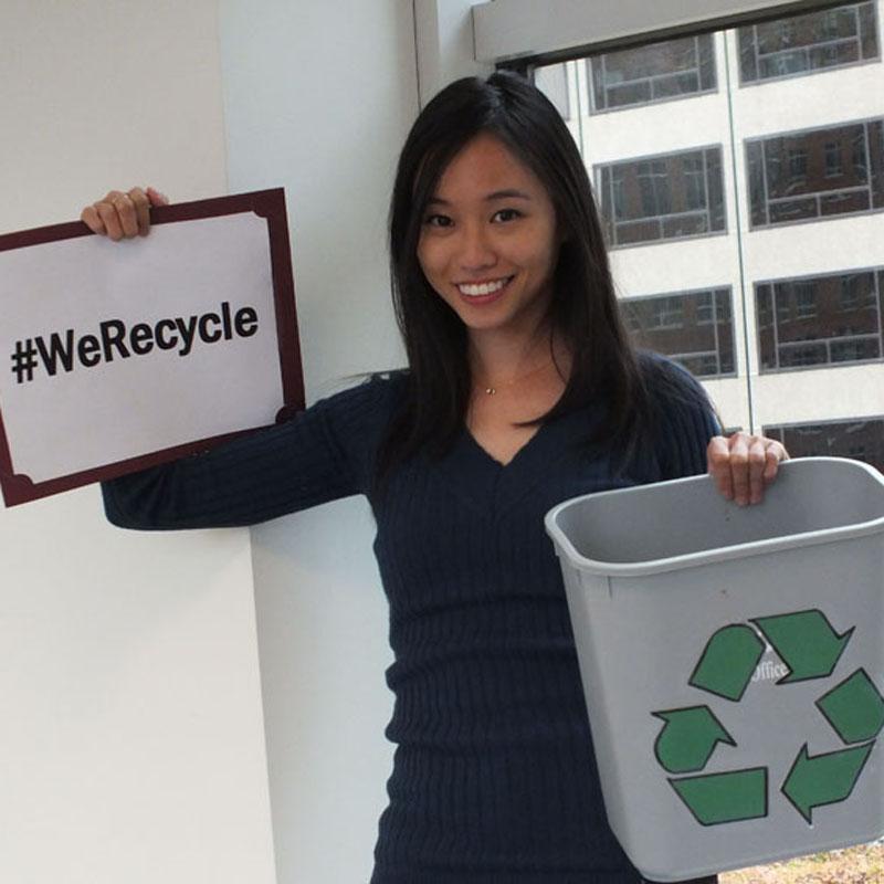 EPA Employee Felicia Recycles