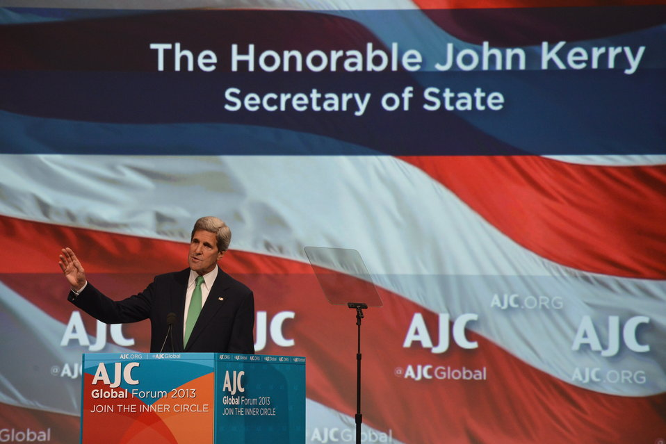 Secretary Kerry Delivers Remarks at the American Jewish Community Global Forum