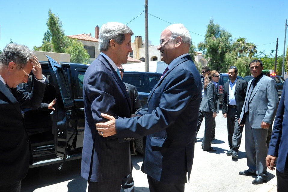 Secretary Kerry Meets With Palestinian Authority Chief Negotiator Erekat