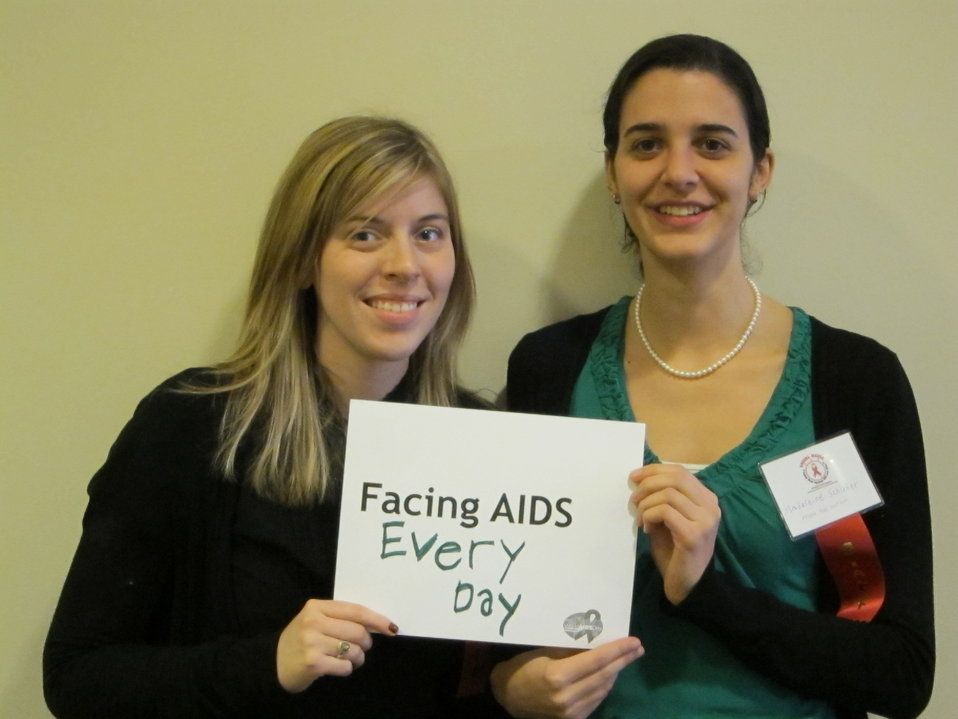 Facing AIDS every day.