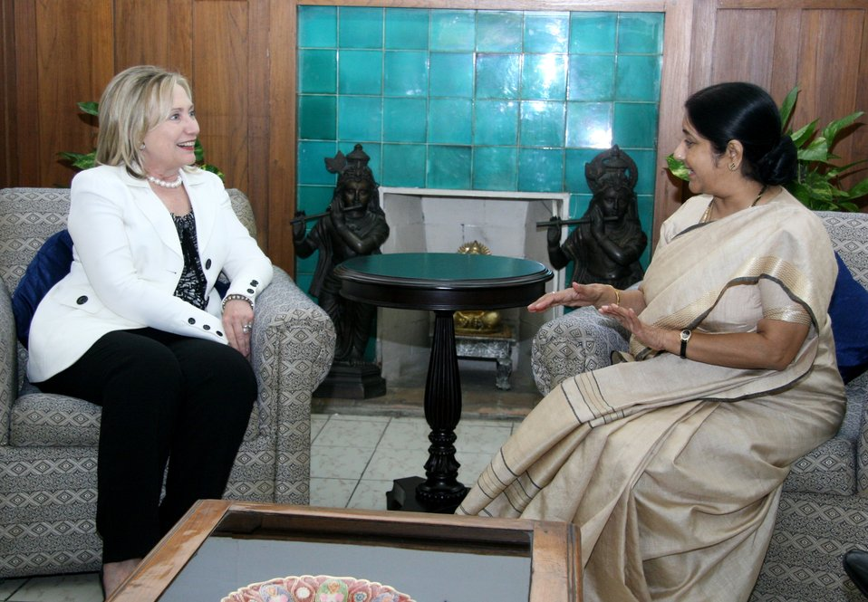 Secretary Clinton Meets With India's Opposition Leader Swaraj