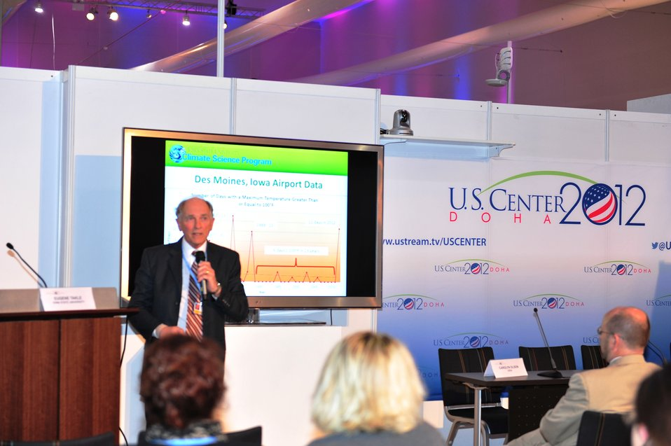 Dr. Takle Gives a Presentation at the U.S. Center