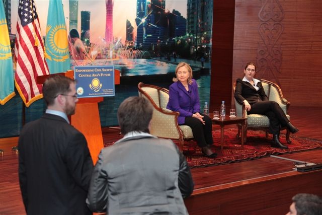 Secretary Clinton Participates in a Town Hall
