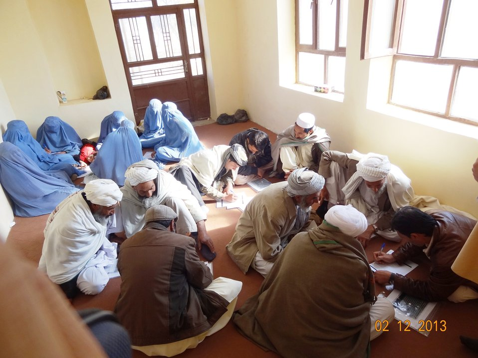 17 members of  Kushk Haibat CDC in Pashtun Zarghun District received Advocacy and Concept Note training on Dec 2nd