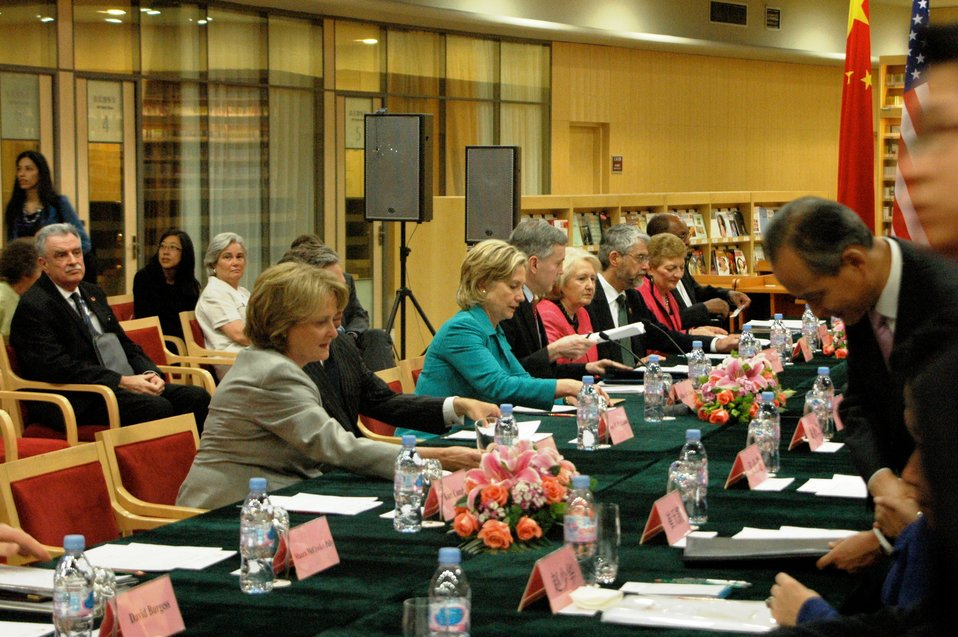 Secretary Clinton Meets With Chinese State Councilor Liu Yandong at People-to-People Dialogue