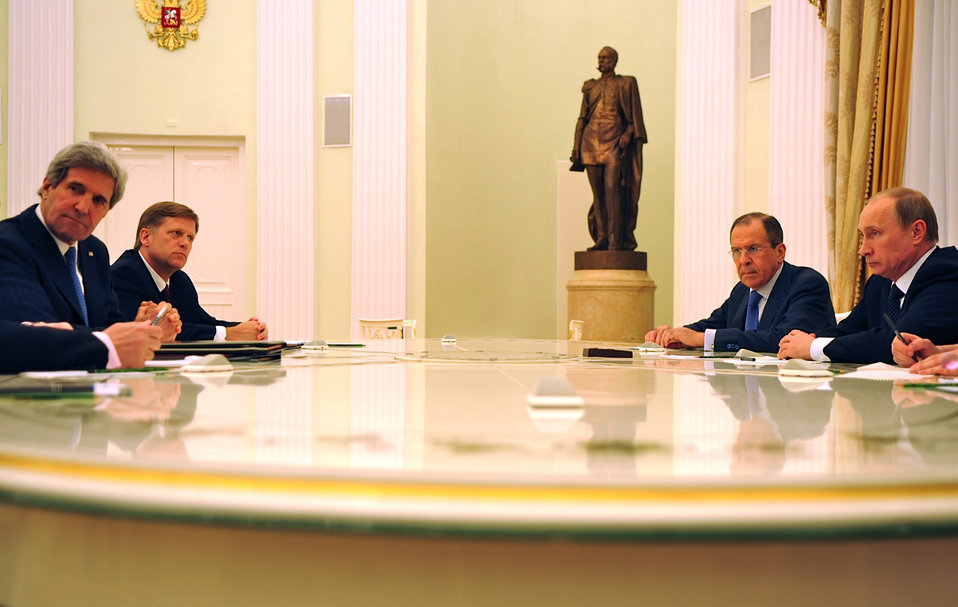 Secretary Kerry Meets With Russian President Putin and Foreign Minister Lavrov