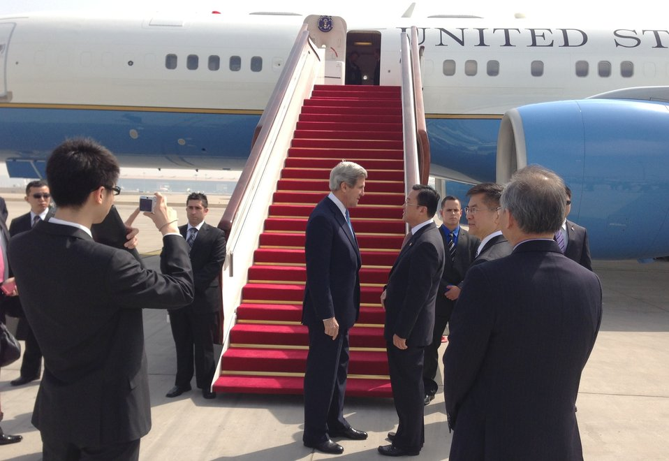 Secretary Kerry Arrives in Beijing