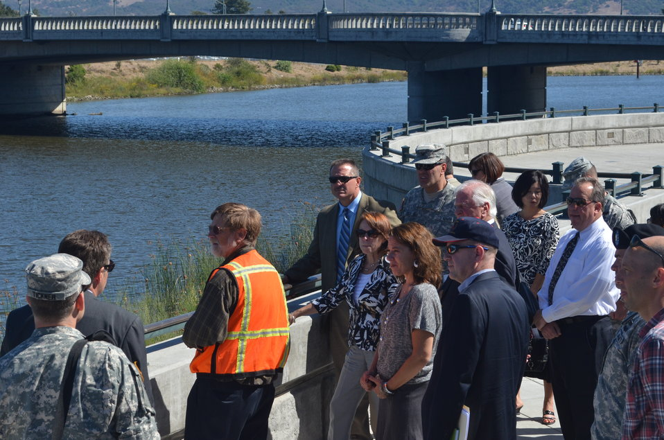 Tour of Napa flood risk reduction efforts
