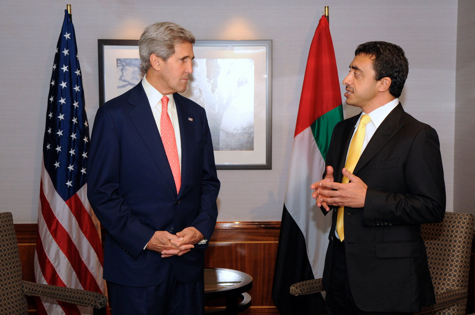 Secretary Kerry Meets With UAE Foreign Minister Abdullah bin Zayed