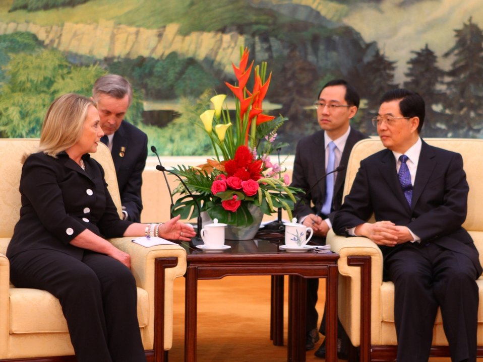 Secretary Clinton Meets With Chinese President Hu Jintao