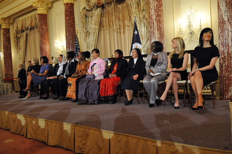 Secretary Clinton and First Lady Michelle Obama With Honorees