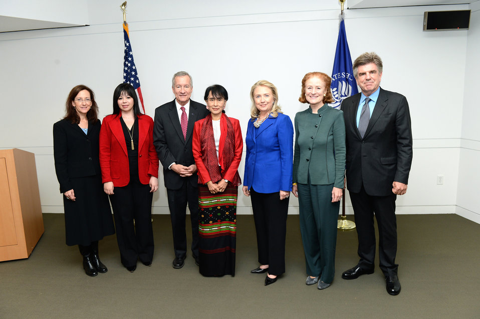 Secretary Clinton With Daw Aung San Suu Kyi