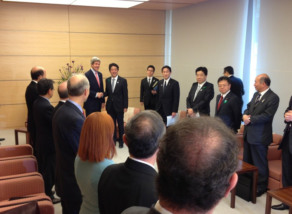Secretary Kerry Meets With Japanese Prime Minister Abe