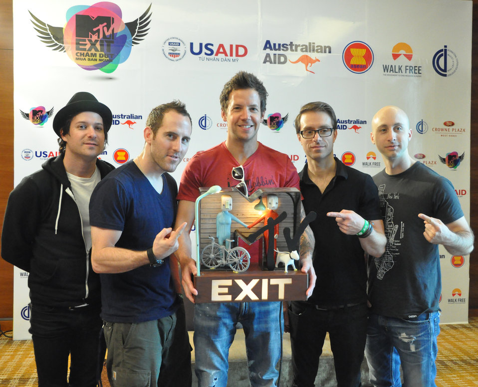 Simple Plan Meets the Press in Hanoi on May 27, 2012