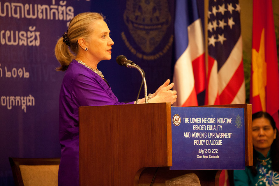Secretary Clinton Delivers Remarks at the Women's Empowerment Event