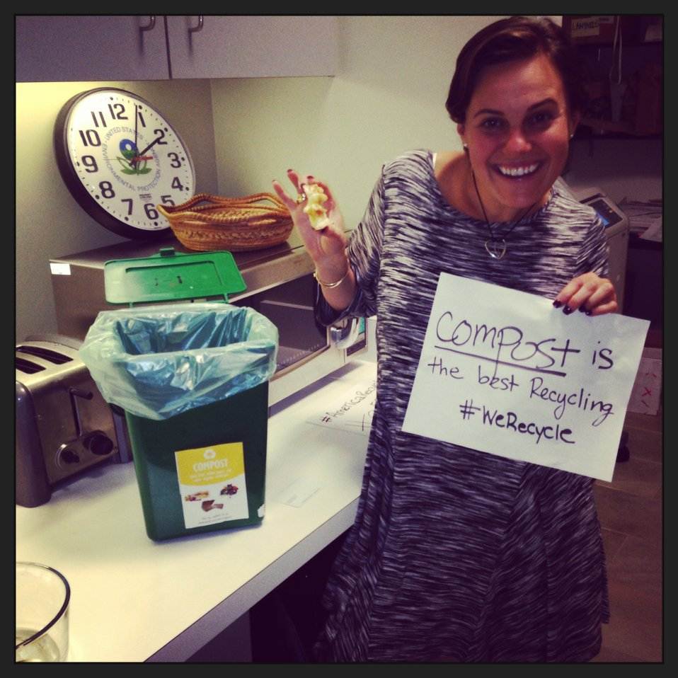 EPA Employee Shira Recycles