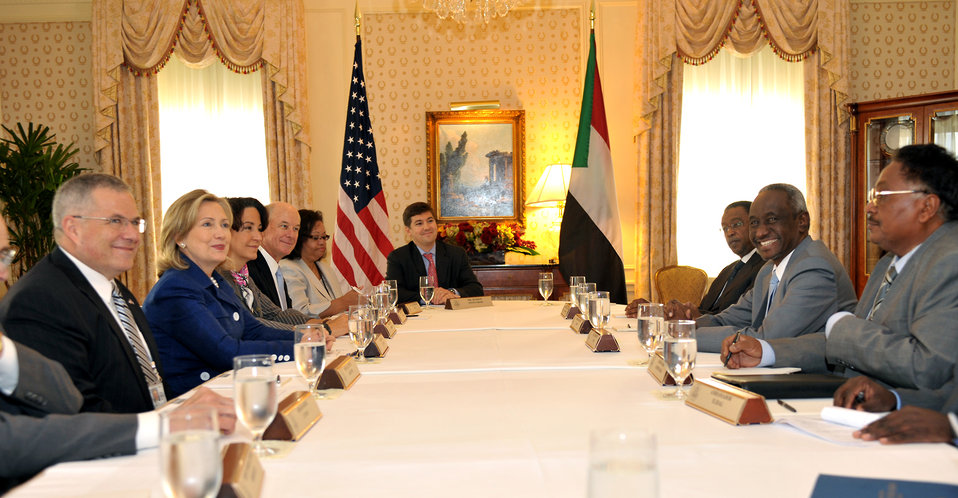 Secretary Clinton Holds a Bilateral With Sudanese Vice President Ali Osman Taha