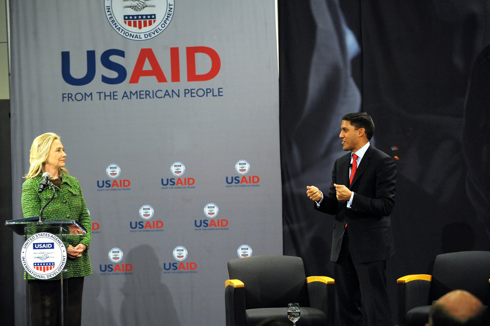 Secretary Clinton Participates in the USAID Town Hall Meeting