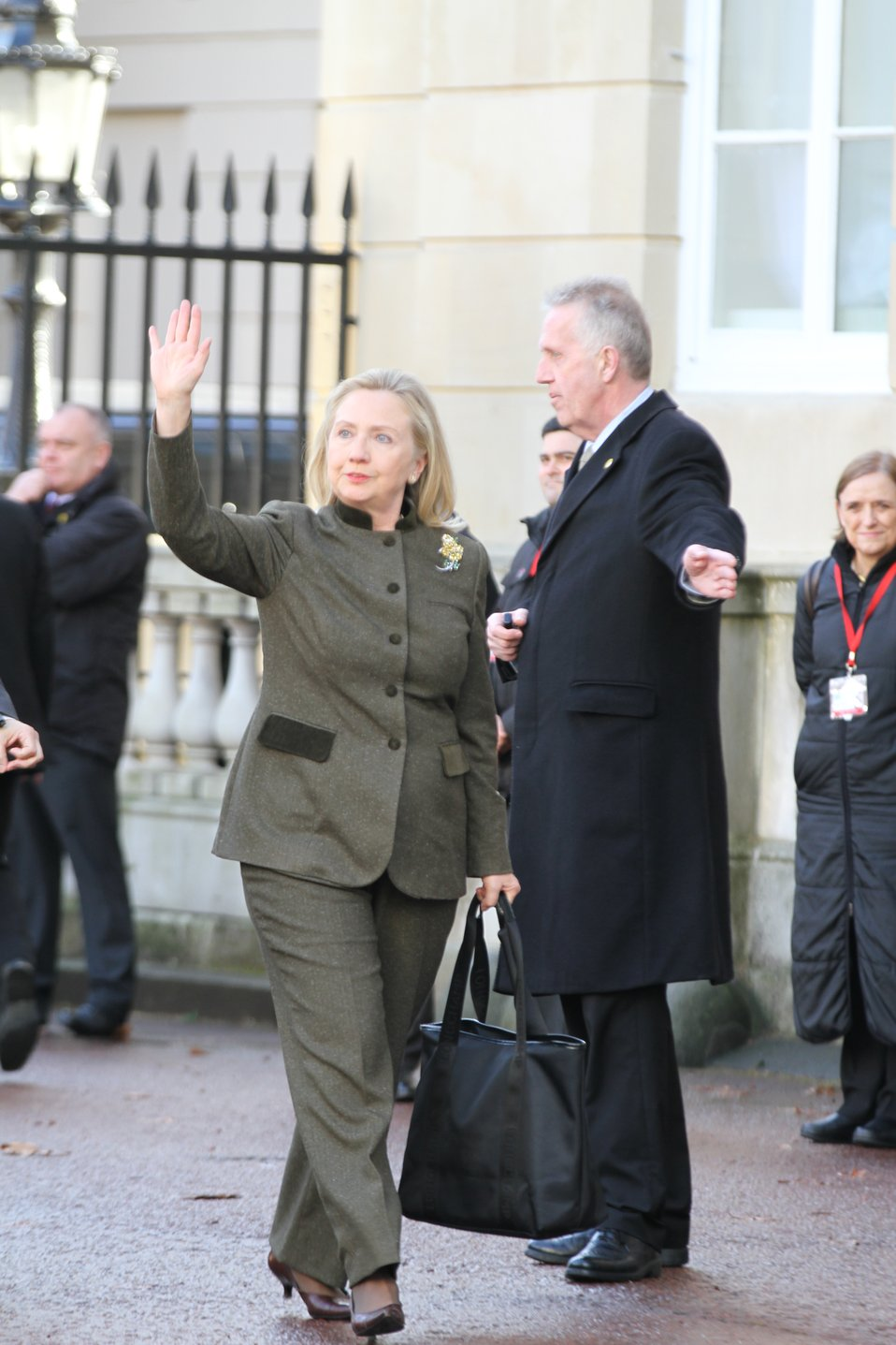 Secretary Clinton Waves