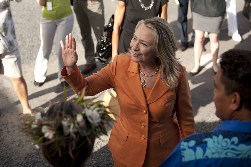 Secretary Clinton at the Pacific Islands Forum in the Cook Islands