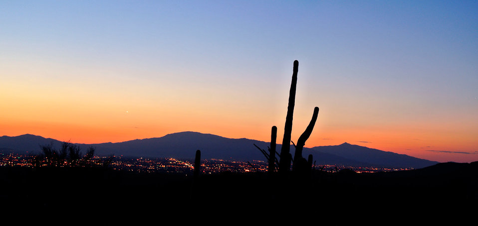 Tucson sunrise panorama