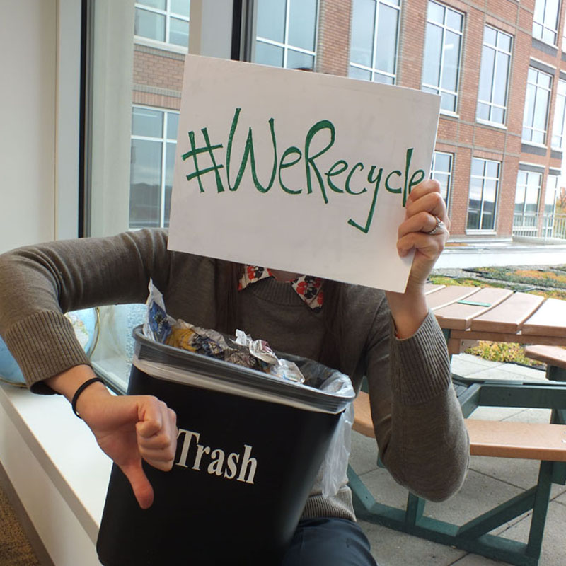 EPA Employees Kristen Recycles