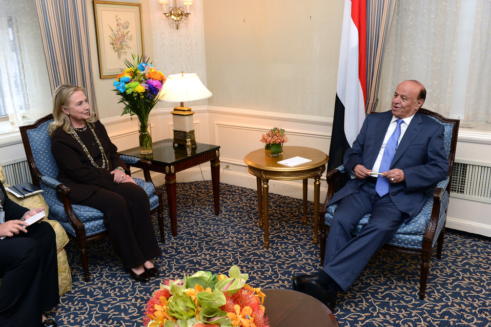 Secretary Clinton Meets With Yemeni President Hadi