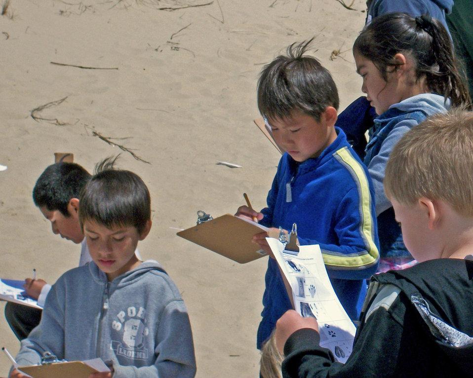 Ore Dunes NRA students Tracks