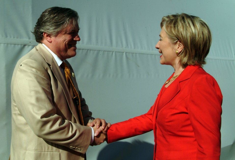 Secretary Clinton at Simeprode Power Plant