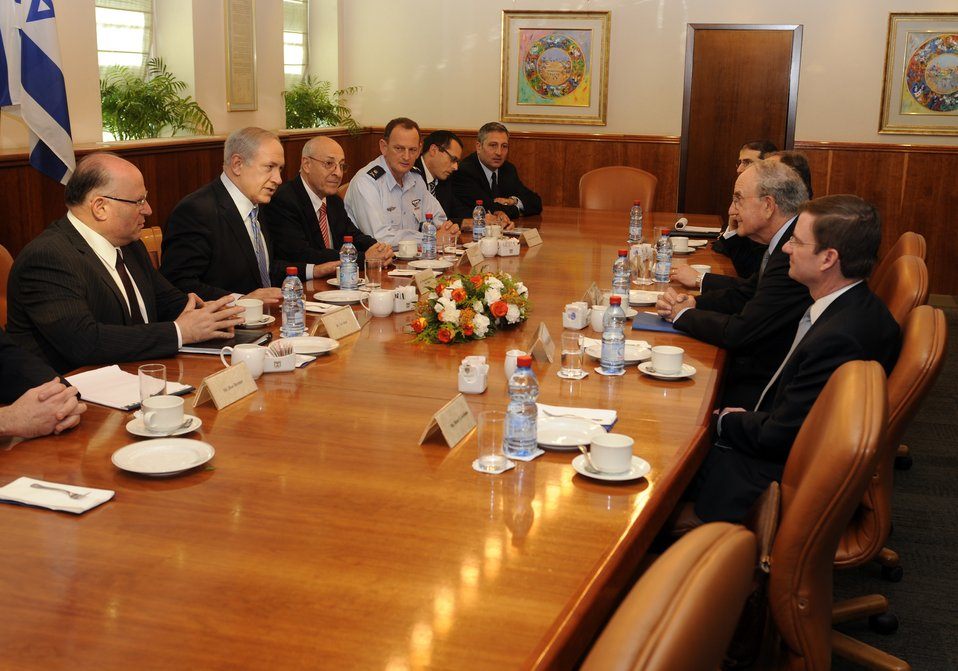 Special Envoy Mitchell Meets With Israeli Prime Minister Netanyahu
