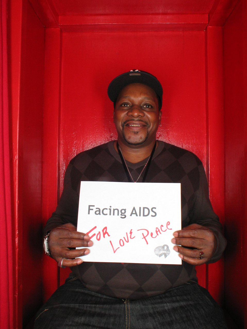 Facing AIDS for love peace.